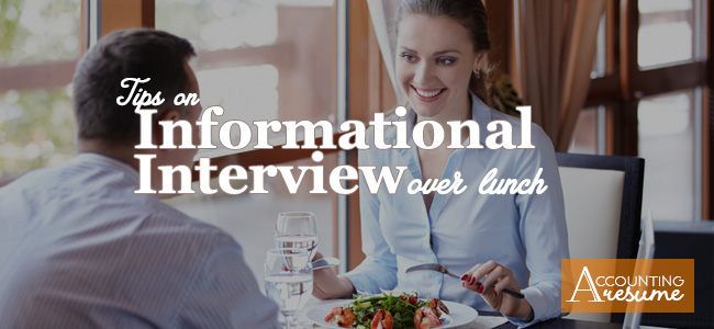 informational interview over lunch
