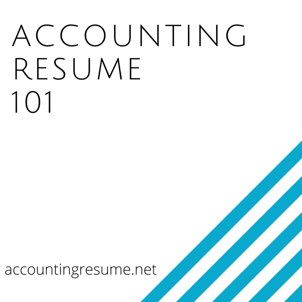 accounting resume 101